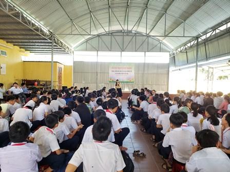 Tam Kỳ tổ chức tuyên truyền phòng chống đuối nước, tai nạn thương tích và tư vấn hướng nghiệp cho học sinh