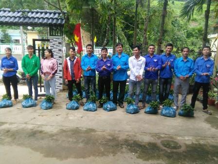 Tam Kỳ: Trao cây giống hỗ trợ thanh niên hộ nghèo