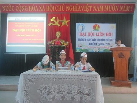 Đại hội Liên đội trường Tiểu học Nguyễn Văn Trỗi nhiệm kỳ 2016-2017